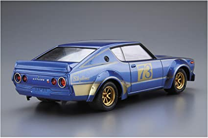 Aoshima 1//24 The Model Car Kit Ken/&Mary Nissan Skyline KPGC110 2000GT-R Racing