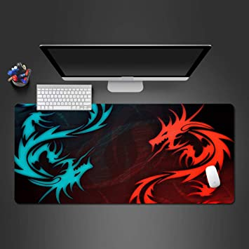 IKAEASD Cool Blue and Red Dragon Mouse Pad Alfombrilla de ...