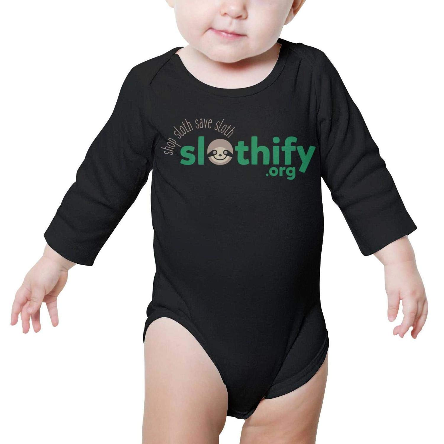 PoPBelle Sloths and Giant Banana Baby Onesie Outfits Long Sleeve Neutral Cotton Outdoor