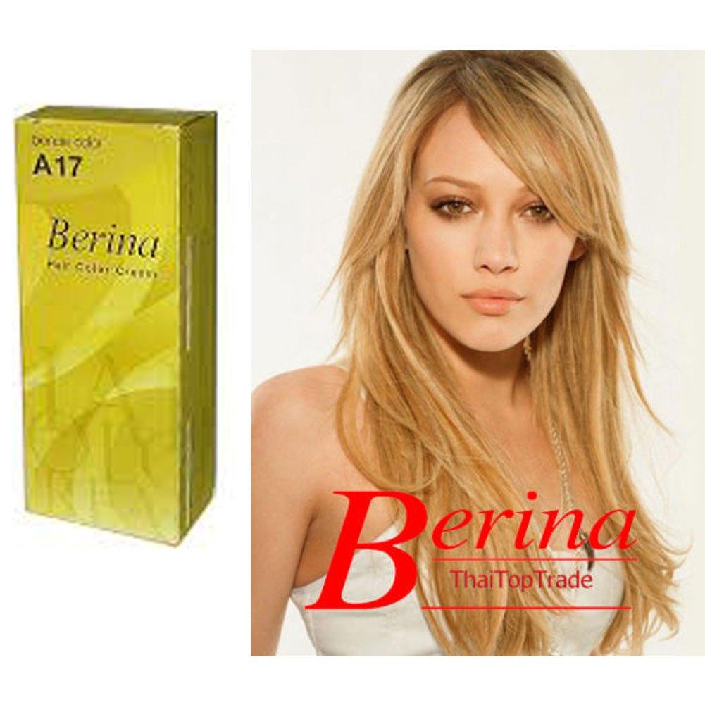 Amazon Berina Permanent Hair Dye Color Cream A17 Blonde Color