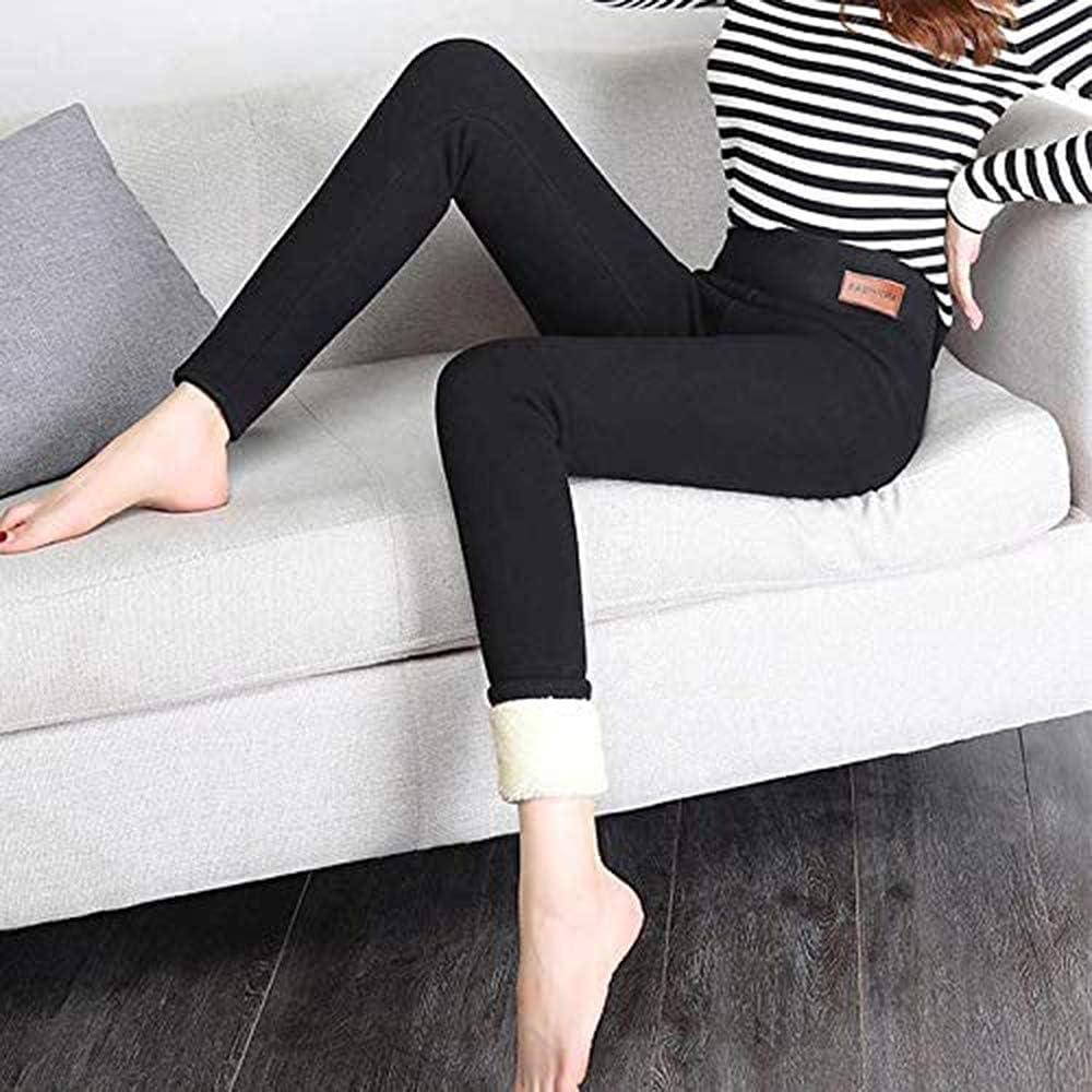 Etichetta in tessuto, 2XL Leggings in lana di cashmere super spessi pantaloni termici a vita alta da donna alla moda invernale
