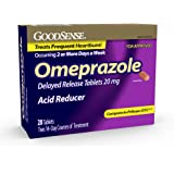 GoodSense Omeprazole Delayed Release, Acid Reducer Tablets 20 mg, 28 Count