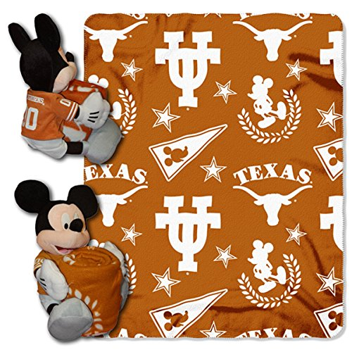 (The Northwest Company NCAA Texas Longhorns 40x50-Inch Throw with 14-Inch Hugger)