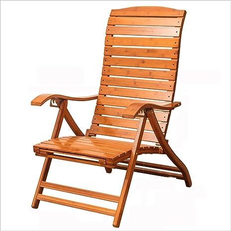 XIAOYAN Old man Mecedora Moda Silla plegable de madera ...