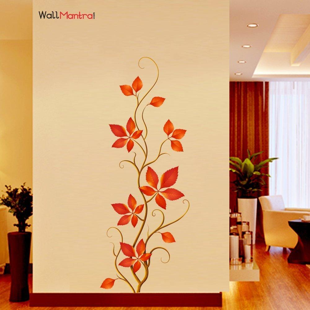 WallMantra Vinyl Plant Nature Wall Sticker, 46 x 121cm (wmla715 ...