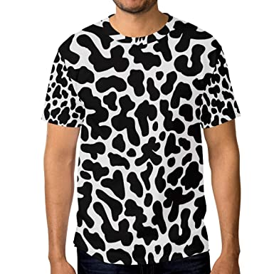 b0e22ae26299 Image Unavailable. Image not available for. Color  Horatiood Huberyyd Black  and White Leopard Print Men s T Shirts ...