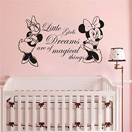 Amazon.com: Wikaus Mickey Minnie Mouse Wall Art Decal ...