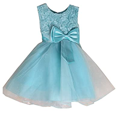 Girls Flower Dresses Princess Birthday Wedding Bridesmaid Party Prom Occasion Birthday Kids Dress: Amazon.co.uk: Clothing