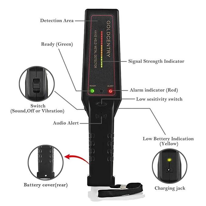 MagiDeal Escáner de Mano Portátil Detector Varita de Metal: Amazon.es: Jardín