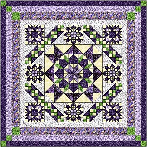 Quilt Kit Hexagon Stars, Purples/Queen by Material Maven