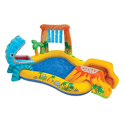 Intex Dinosaur Inflatable Play Center, 98in X 75in X 43in, for Ages 2+: Toys & Games