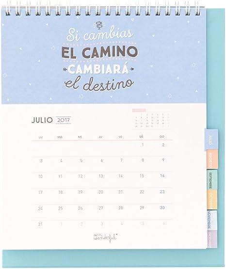 Mr. Wonderful WOA03740ES - Calendario 2017, color verde menta: Amazon.es: Oficina y papelería