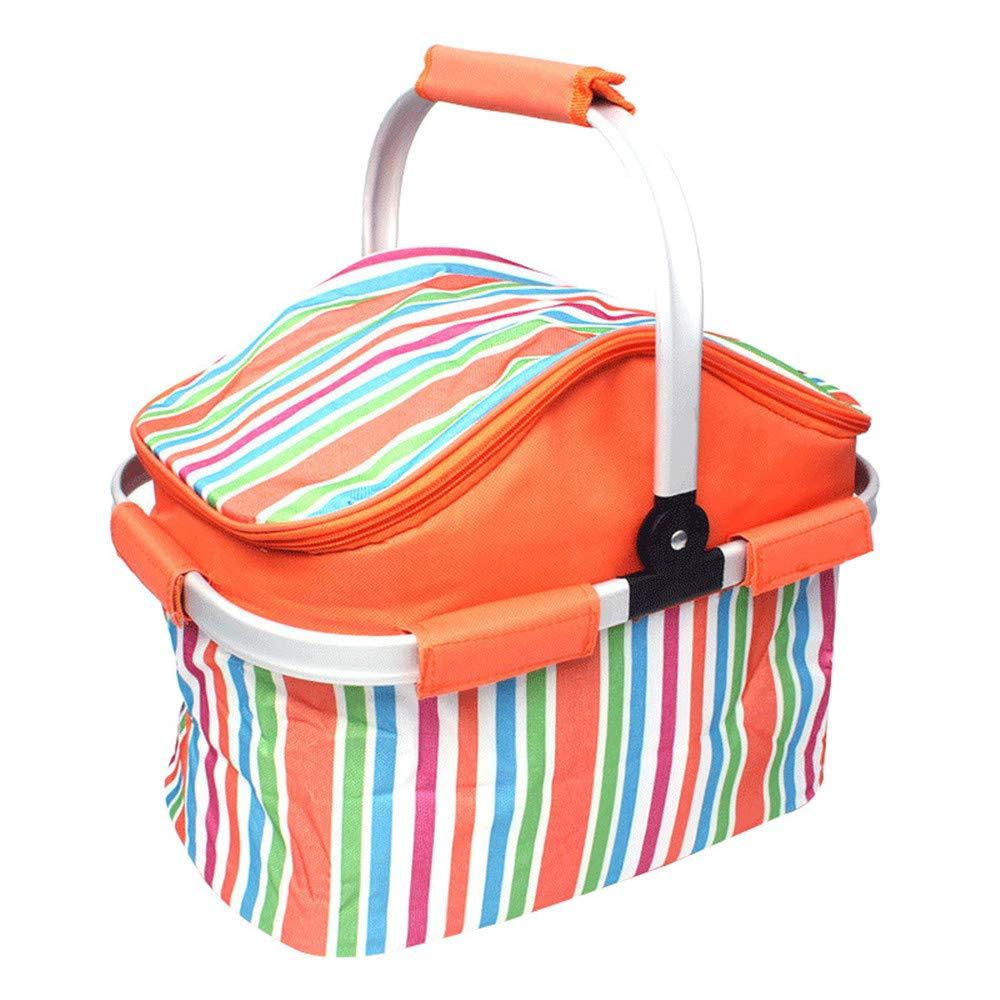 屋外大容量ポータブルピクニックバッグ大型絶縁ピクニックバスケット車のポータブルストレージバッグフレッシュパッケージアイスバッグを維持   B07K414BPX