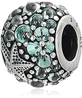 Amazon Com Pandora 791784rc April Signature Heart Charm Jewelry