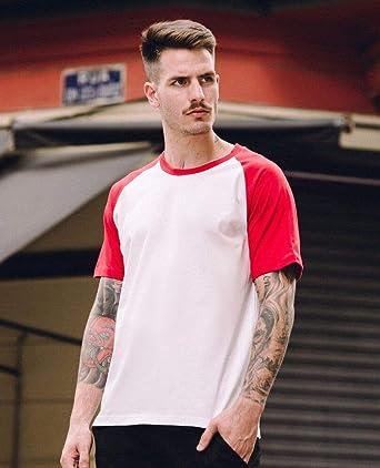 23e64f68ae Camiseta Raglan 70 s Red  Amazon.com.br  Amazon Moda