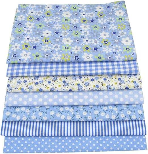 7 piezas 50 x 50 cm 100% tela de algodón para costura DIY Quilting Patchwork tela de tela para niños ropa de cama textil Tilda muñeca tela: Amazon.es: Hogar