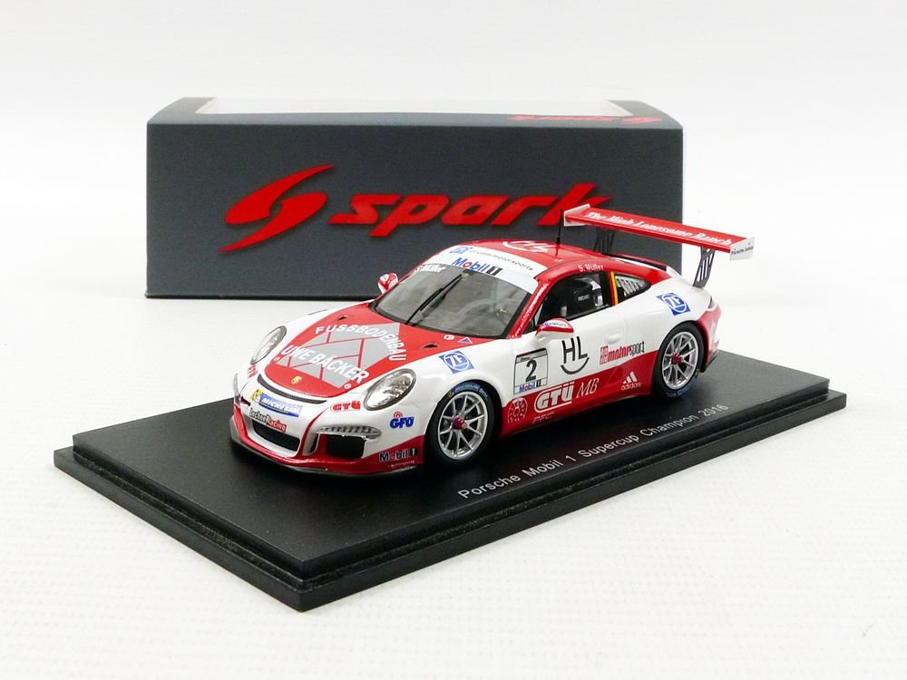 Spark – Porsche 911/991 Carrera Cup Champion Supercup 2016, S5152, S5152, S5152, Rojo/Blanco, en Miniatura (Escala 1/43 7669b5