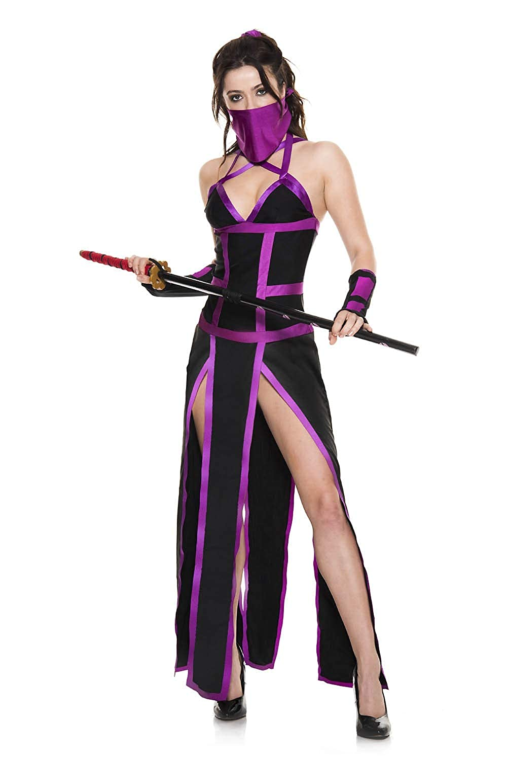 Amazon.com: 4 PC. Ladies Slay Ninja Costume Set: Clothing