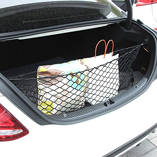 Thie2e Cargo Net Car Rear Envelope Trunk Storage Net Organizer For Subaru BRZ Forester Outback Xv crosstrek Impreza 2015 2016 2017 2018 2019