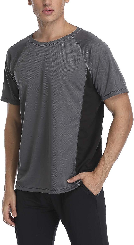 Short Sleeve Rash Vest UV Protection Rash Guard Tops 50 Taylover Mens Rash Guard UV Sun Protection UPF