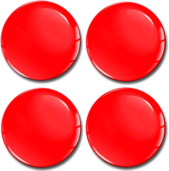 Biomar Labs 4 X 60mm Aufkleber 3d Silikon Rot Für Radkappen Nabenkappen Radnabendeckel Rad Aufkleber Nabendeckel A 1060 Küche Haushalt