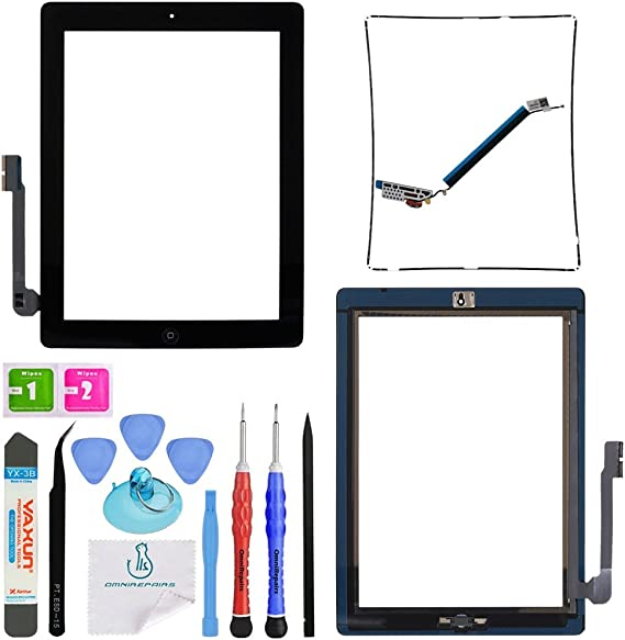 Touch Screen Digitizer Replacement Home Button For Apple iPad 3 with Tools