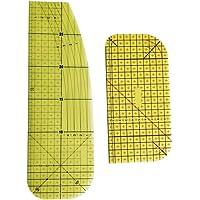 ARTIBETTER 2Pcs Régua de Plástico Resistente de Alta Temperatura de Engomar Quente Governante Patchwork DIY Tecido…