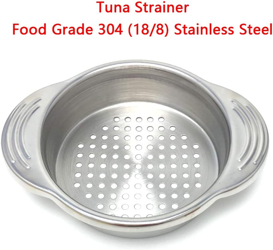 Can Strainer - Tuna Strainer - Food Grade 304 (18/8) Stainless Steel, Dishwasher Safe, Food Strainer, Can Colander, Easy To Clean, Eco-friendly