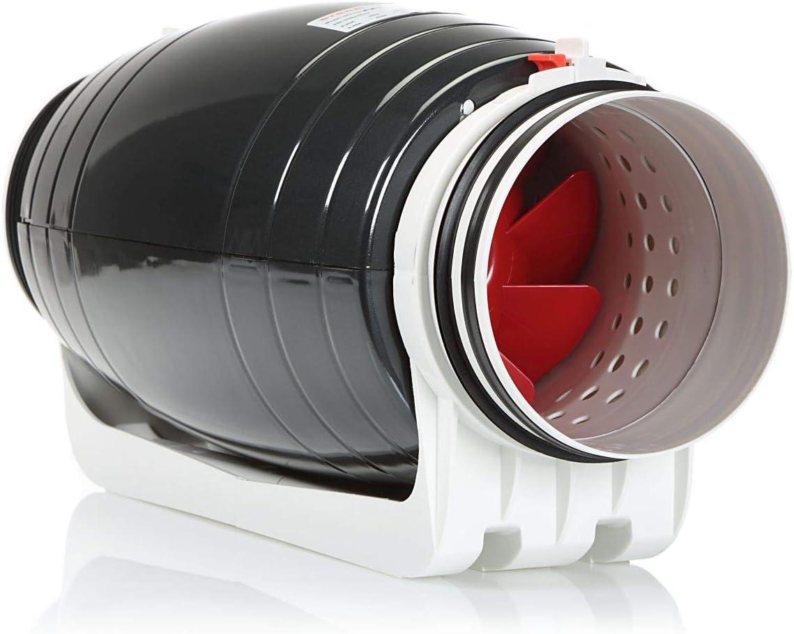 STERR – Extractor en línea con ventilador de conductos silenciosos 150 mm – DFA150-SILENT