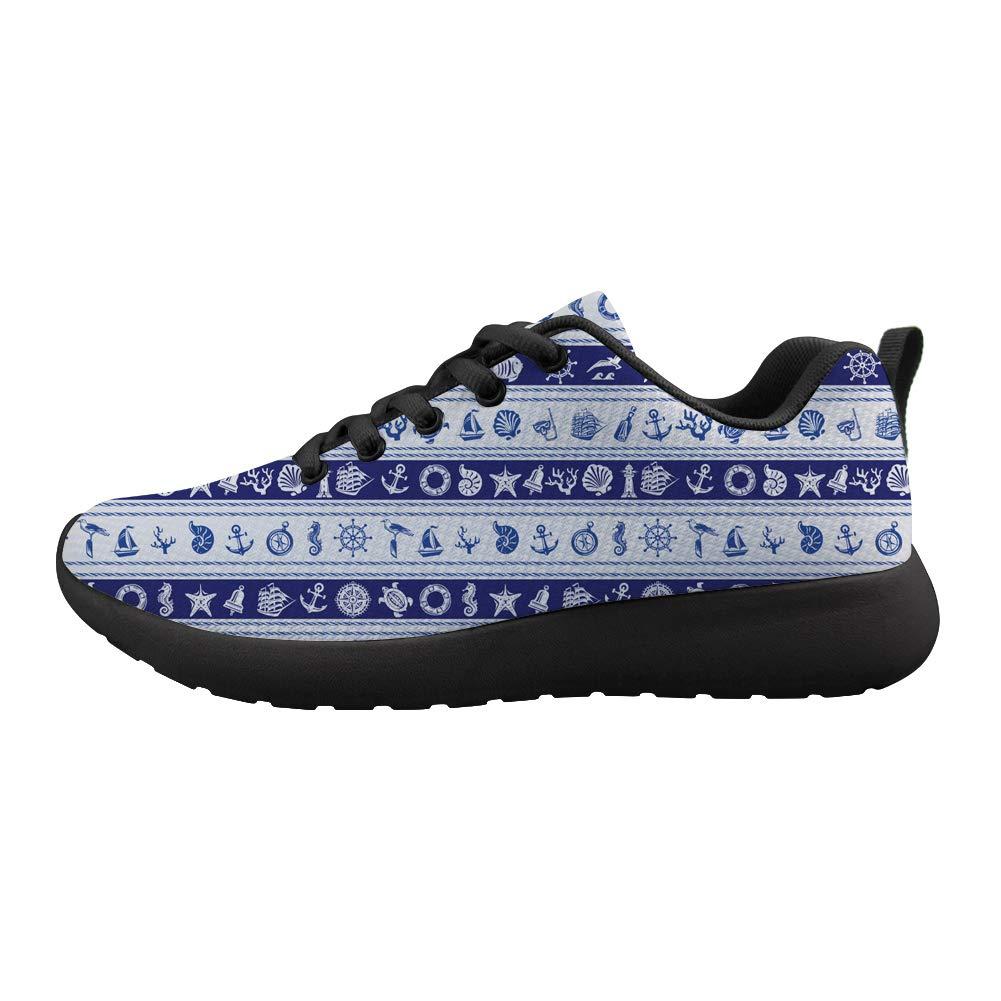 Cushioning Sneaker Trail Running Shoe Mens Womens Captain Wheel Anchor Nautical Elements