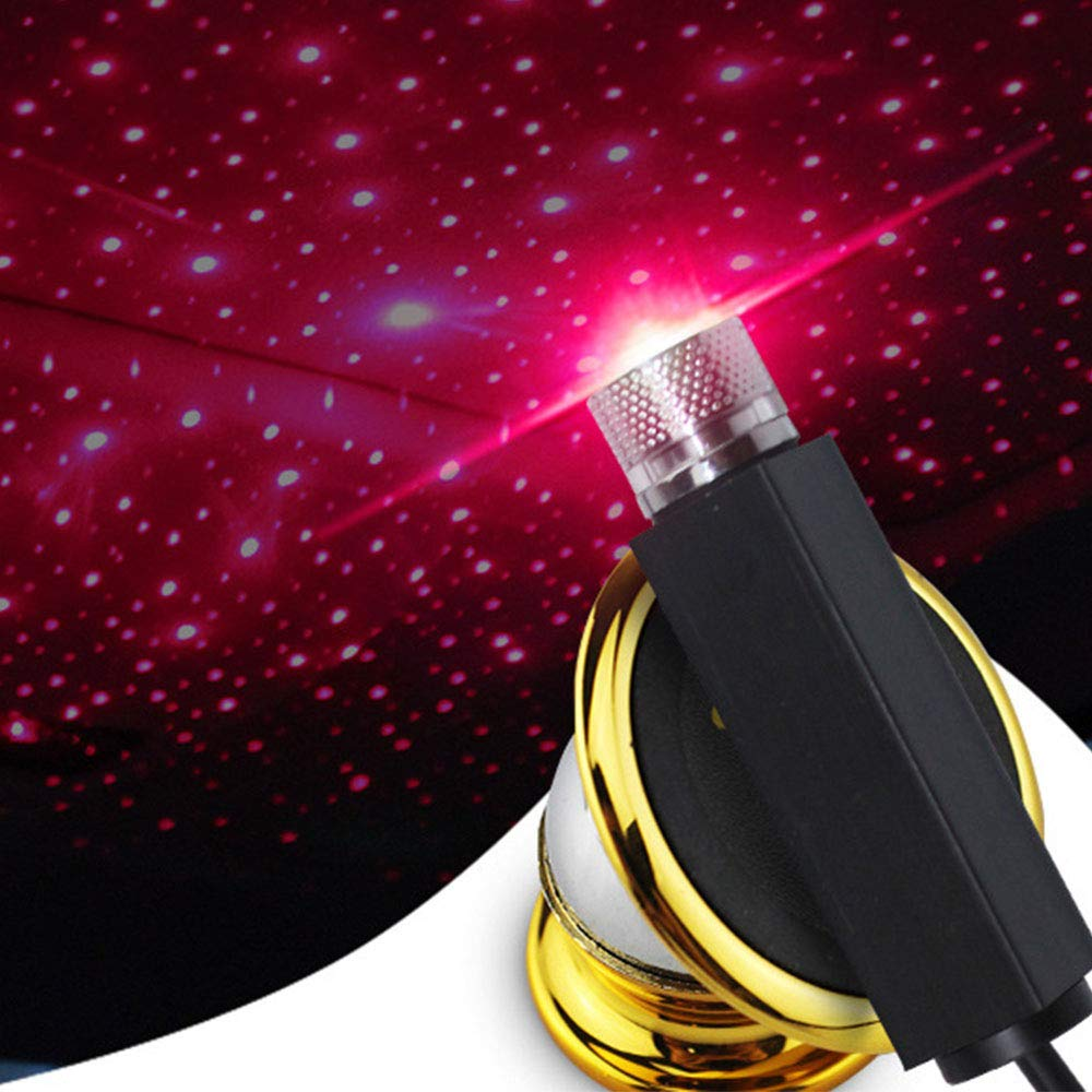 Asdomo LED Car Atmospheres Lamp Interior Ambient Star Light USB Romantic Decorative Light for Car//Home//Party