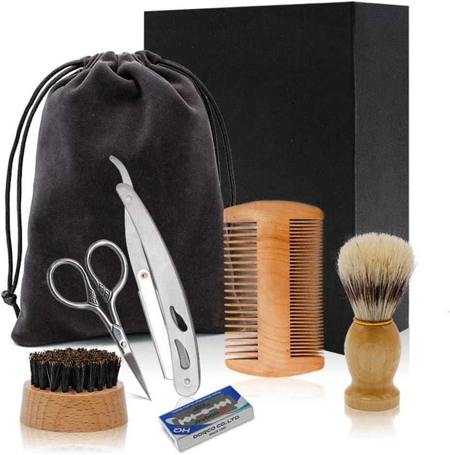 Kit para el Cuidado de la Barba,Maquinilla de afeitar de corte ...