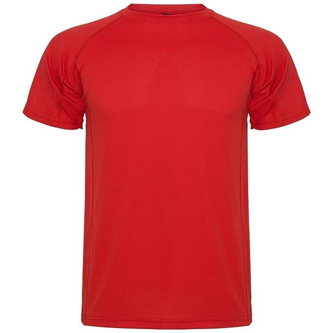 Roly Camiseta técnica para niños Montecarlo, roja: Amazon.es: Ropa y accesorios
