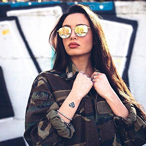 degradadas TWIG Marron sol PERET mujer Bronce espejo Gafas de hombre wzBOX