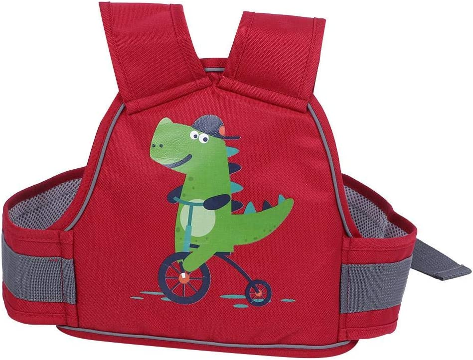 Arnés de seguridad para niños para motocicleta, moto, moto de nieve, silla de caballo, silla ajustable, cinturón de seguridad para niños(rojo)