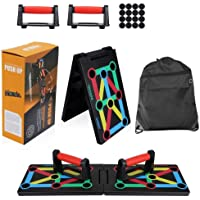 Clonic 12-in-1 opvouwbaar push-up rack board met handgreep voor spiertraining, effectief vormen, armtrainer…