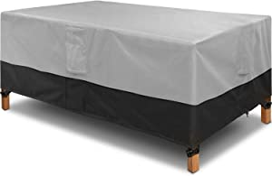 Patio Table Cover, 600D Heavy Duty Outdoor Furniture Cover Waterproof 84