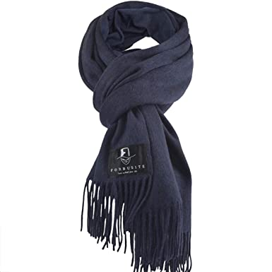 Grande echarpe femme bleu marine - Idée pour s habiller 076582b1206