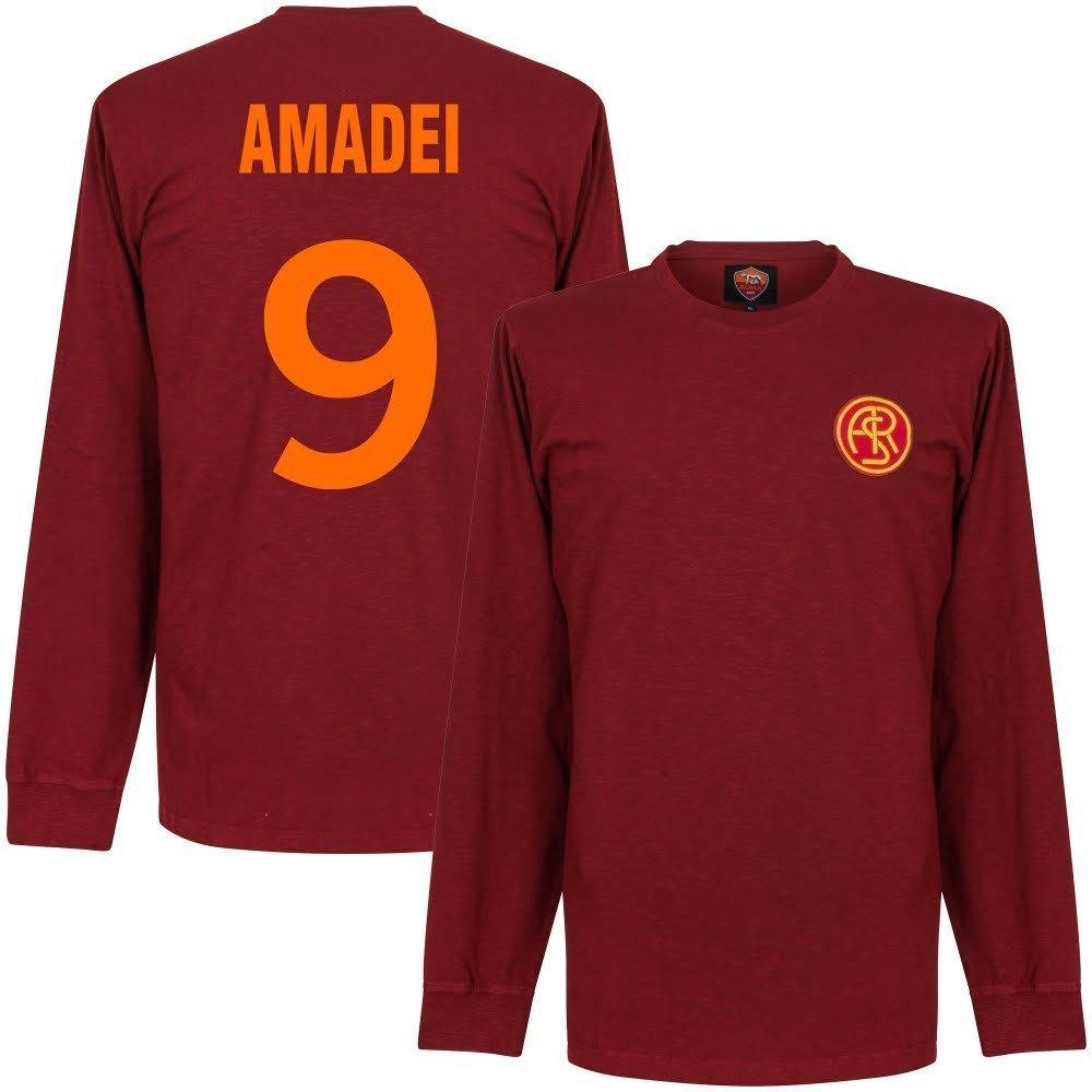 Copa 41-42 As Rom L S Retro Trikot + Amadei 9