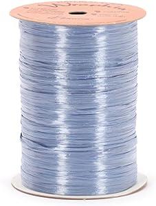 Berwick Offray Pearlized Blue Raffia Ribbon, 1/4'' Wide, 100 Yards