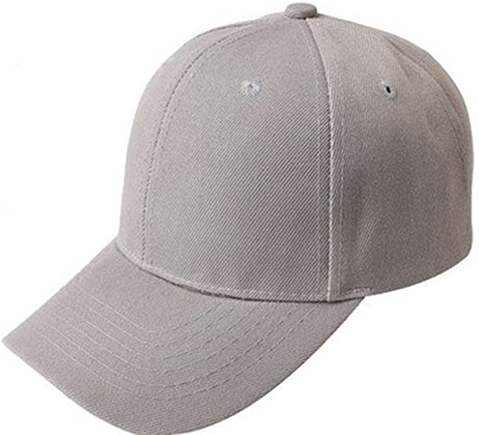 Leisial Gorra de Béisbol de Moda Ocio Color Sólido Ajustable del Sombrero Hats Hip-Hop