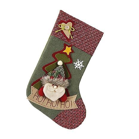 LXIANGP Dulces de navidad Bolsa de regalo Decoración de accesorios Santa muñeco de nieve Calcetines Regalo
