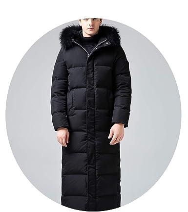 Amazon.com: Fresh -house The Item was Updated,Winter Down Jacket Men Long Coat Men R-accoon F-ur Collar Plus Size Warm Mens Jackets: Clothing