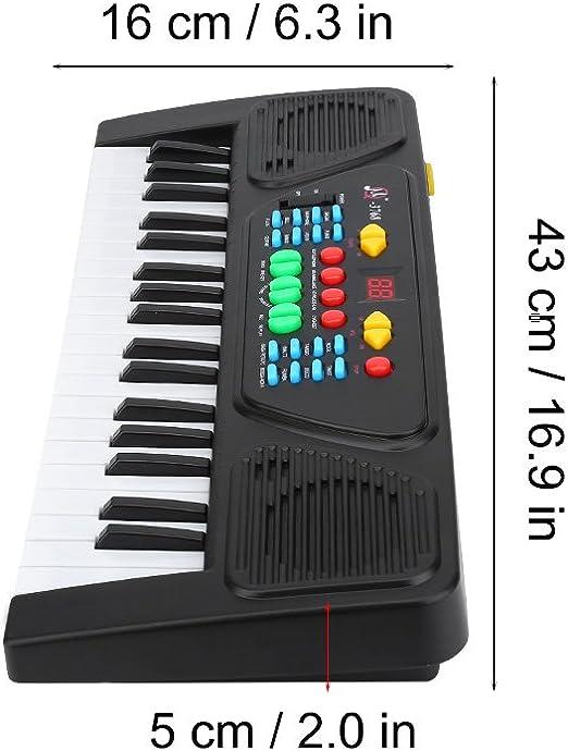 VGBEY 37 Teclas Teclado electrónico Multifuncional, Mini Piano con diseño Compacto Sonidos y ritmos múltiples Juguete Educativo Musical con Mini ...