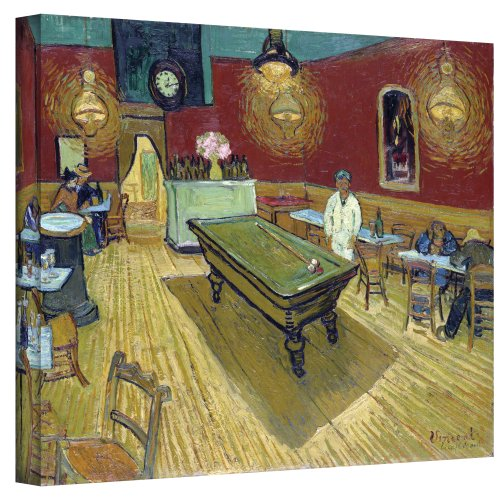 Art Walls The Night Cafe in the Place Lamartine in Arles Gallery Wrapped Canvas by Vincent Van Gogh, 36 by 48-Inch (Arles Canvas)