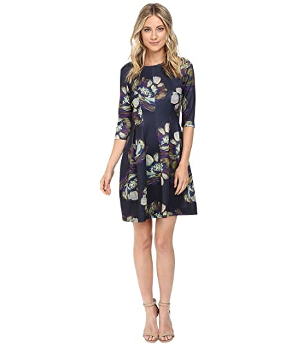 Christin Michaels Women's Emellie 3/4 Sleeve Fit and Flare Dress