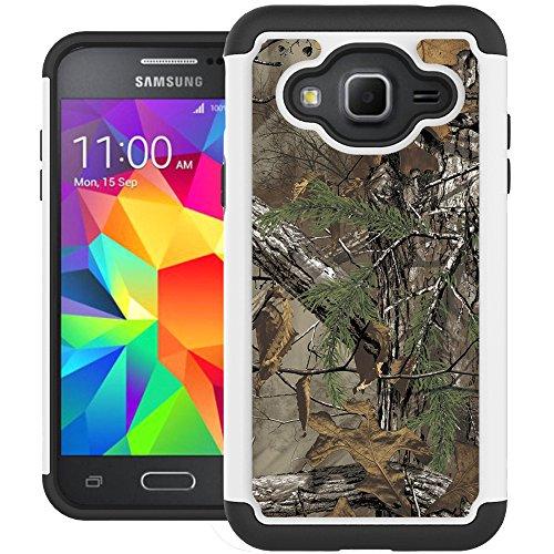 J3 Case, Galaxy J3 V Case, Express Prime Case, UrSpeedtekLive [Shock Absorption] Dual Layer Hybrid Defender Cover Case for Samsung Galaxy J3 (2016) / Express Prime / Amp Prime - Camo (Camo Phone Covers)
