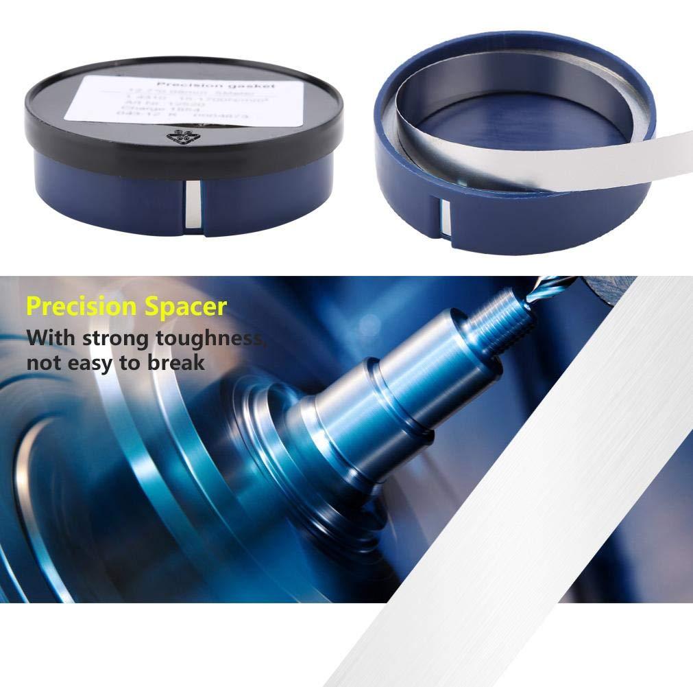 0.1mm Thickness Pr/äzisionsscheibe 5 m /× 12,7 mm Distanzscheibe aus Edelstahl Dichtung Pr/äzisionsdichtung f/ür die Maschinenwartung