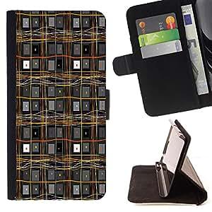 Dragon Case - FOR Samsung Galaxy S6 EDGE - Levels of the world - Caja de la carpeta del caso en folio de cuero del tir¨®n de la cubierta protectora Shell