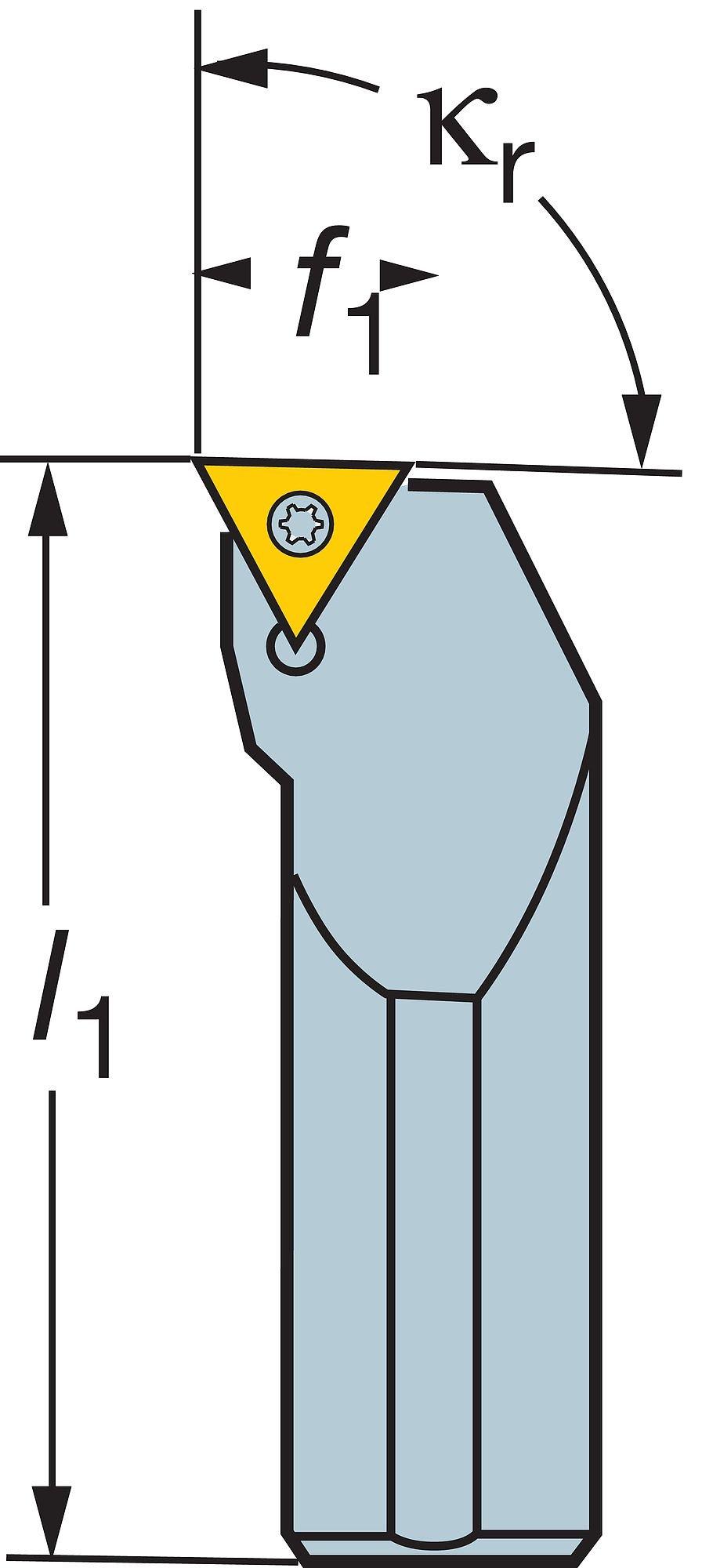 1.2 8mm Shank Diameter Steel TCMT 1.2 100mm Length x 5.9mm Width Internal Screw Clamp 0 Insert Size Right Hand Sandvik Coromant A08H-STFCR 06 Turning Insert Holder Round Shank